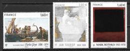 France 2016 N° 5046 - 5033 - 5069 Neufs Série Artistique à La Faciale + 10% - Unused Stamps