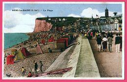 Mers Les Bains - La Plage - Falaise - CIM - 1940 - Colorisée - Mers Les Bains