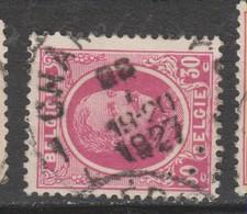 COB 200 Oblitération Centrale CHARLEROY - 1922-1927 Houyoux
