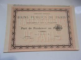 BAINS PUBLICS DE PARIS (1882) - Non Classés