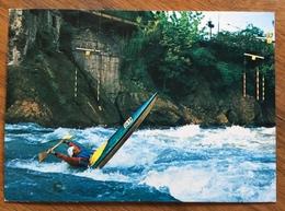 CANOA KAYAK  MARIO DI STAZIO IN AZIONE CARTOLINA  DELLA IVREA CANOA CLUB  31/5/81 CAMPIONATO D'ITALIA IVREA - Francobolli