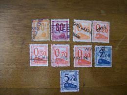 FRANCE Lot De 9 Tp Colis Postaux Ob 1960 - Paketmarken