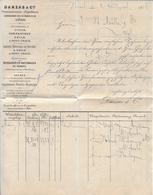 HEIMAT BASEL → 1878 Rechnung Danzas Und Cie - Schweiz