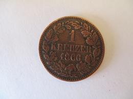 Bade: 1 Kreuzer 1866 - [ 1] …-1871: Altdeutschland