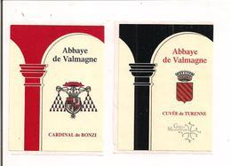 Etiquettes Abbaye De Valmagne - Cuvée De Turenne Et Cardinal De Bonzi - Appellation Grès De Montpellier - - Languedoc-Roussillon