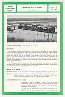 Train Tramway Tram CAP FERRET Tramways Du Cap Ferret Voie étroite PUB Chocolat TOBLER Fiche Descriptive & Plan Au Dos - Europe
