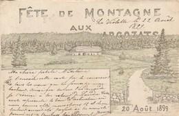Fête De Montagne Aux Argozats 1899 - VD Vaud