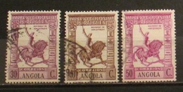 Angola 1938 Imperio Colonial 3 Used Stamps Knight 30c 40c 50c - Angola