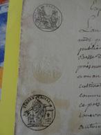 1806 (Basses-Alpes) Thorame Timbre 75c Vente D'un Terrain (Alpes-de-Haute-Provence) - Cachets Généralité
