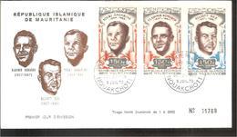 FDC 1970 Vladimir KOMAROV, Youri GAGARINE, ELLIOT SEE - Mauritanie (1960-...)