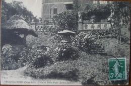 76 Seine Inférieure Maritime  CPA  Veules Les Roses Villa Du Vieux Puits  Jardin Japonais  1912 - Veules Les Roses
