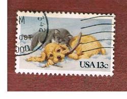 STATI UNITI (U.S.A.) - SG 2007  -  1982  PUPPY & CHITTEN  -  USED - Usati