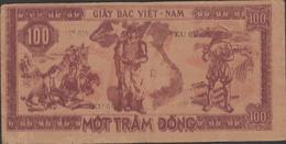 N.VIETNAM    BANKNOTE   100d   Fine  Ref N°  KU037 - Vietnam