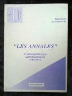Les Annales: 3e Technologique Mathématiques Sujets Seuls-Session 95/ Alto Ed. - Livres, BD, Revues
