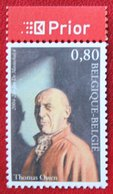 Thoma Owen Literatuur Literature OBC N° 3328 (Mi 3377) 2004 POSTFRIS MNH ** BELGIE BELGIEN / BELGIUM - Belgien