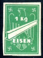 Vignette, 1 Kg Eisen, Hakenkreuz, Ca 1940, Rationsmarke ?????? - Documents