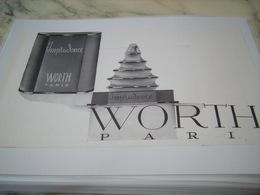 ANCIENNE PUBLICITE PARFUM IMPRUDENCE DE WORTH PARIS  1938 - Perfume & Beauty