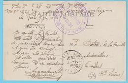 G.B. 01 - CPA Avec Cachet De Franchise - N° 43 - Place De La Roche Sur Yon (65) - Dépôt De Convalescents - Marcophilie (Lettres)