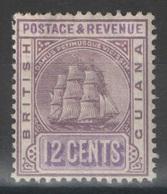 Guyane Britannique - British Guiana - YT 75 * - 1889 - British Guiana (...-1966)