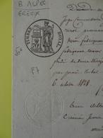1828 (Basses-Alpes) Digne Gréoux Valensole Fabrique De Briques Timbre 70c Lys  (Alpes-de-Haute-Provence) - Cachets Généralité