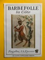 10095 - Barbefolle La Côte Suisse - Etiquettes