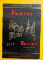 10099- Pinot Noir 1997 Bursinel Suisse - Etiquettes