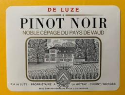 100100- Pinot Noir De Luze Chigny Suisse - Etiquettes