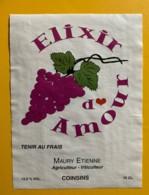 100102 - Elxir D'Amour Etienne Maury Coinsins Suisse - Etiquettes