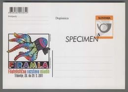 C4457 SLOVENIA Postal Stationery FIRAMLA FILATELISTICNA RAZSTAVA MLADIH TRBOVLJE A Postcard Cartolina Postale - Slovenia