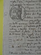 1842 (Basses-Alpes) La Robine  Timbre 70c Lys  (Alpes-de-Haute-Provence) - Cachets Généralité