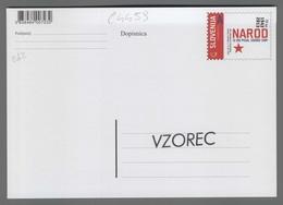 C4459 SLOVENIA Postal Stationery NAROD SI BO PISAL SODBO SAM A Postcard Cartolina Postale - Slovenia