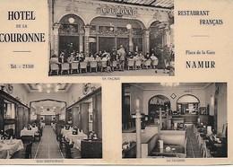 NAMUR. HOTEL DE LA COURONNE, RESTAURANT. PLACE DE LA GARE - Namur