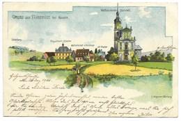 FÄHRBRÜCK Bei HAUSEN...Wallfahrts-Kirche...1900  (coin Pli) - Allemagne