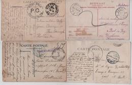 SJ11/ 8 CP PDG-POW Camps Zeist-Kruiningen-Harderwijk Censures De Ou Vers Les Camps Dont Panne - Weltkrieg 1914-18