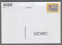 C4461 SLOVENIA Postal Stationery FILATELISTICNA MEDDRUSTVENA RAZSTAVA TRBOVLJE FIRAMLA 2013 A Postcard - Slovenia
