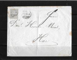 HEIMAT BASEL → 1872 Brief Basel An Heusler - Christ - 1862-1881 Helvetia Assise (dentelés)
