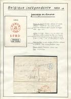 """1832 """"Enveloppe""""  """"Namur"""" + Description - 1830-1849 (Belgique Indépendante)"""