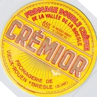 Bistrot & Alimentation > Etiquettes > Fromage Crémior Double Crème De La Vallée De La Bresle Vieux Rouen Bray - Cheese