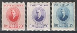Italie - YT 416-418 * - 1938 - 1900-44 Victor Emmanuel III