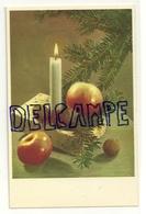 Sapin, Bougie, Cadeau, Noix Et Pommes. Coloprint Spécial 4856/1 - Vieux Papiers