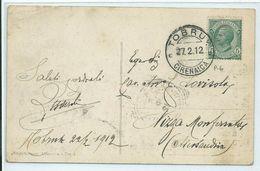 Storia Postale Cartolina Illustrata Del 27/2/1912 Da TOBRUK (CIRENAICA) Per Nizza Monferrato - Storia Postale