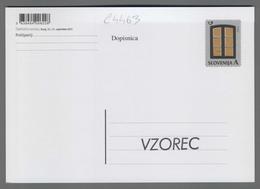 C4463 SLOVENIA Postal Stationery SESTO OKNO FILATELISTICNA RAZSTAVA KRANJ 2013 A Postcard Cartolina Postale - Slovenia