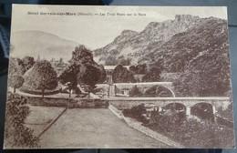 Cpa - 34 -  Saint Gervais Sur Mare - Les Trois Ponts Sur La Mare - France