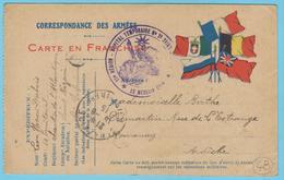 G.B. 01 - Corres. Des Armées Avec Cachet De Franchise - N° 48 - Hôpital Temporaire De Saint Nazaire (44) - Marcophilie (Lettres)
