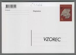 C4466 SLOVENIA Postal Stationery LETNICA CESARSKEGA GRADBENEGA NAPISA IZ EMONE A Postcard - Slovenia