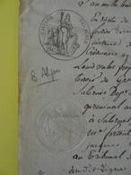 1809 (Basses-Alpes) Timbre 25c Aigle Propriété De Jean-Louis Valet à Valensole  (Alpes-de-Haute-Provence) - Cachets Généralité