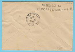G.B. 01 - Lettre Avec Cachet De Franchise - N° 49 - Ambulance 14 - 13° Corps D'Armée - SP 98 - Marcophilie (Lettres)