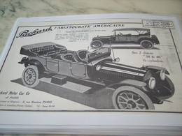 ANCIENNE PUBLICITE VOITURE L ARISTOCRATE AMRRICAINE PACKARD 1914 - Voitures