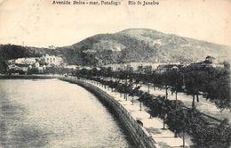 Brazil Avenida Beira Mar Botafogo Rio De Janeiro Esplanade Postcard - Brésil