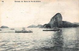 Brazil Entrada Da Barra Do Rio De Janeiro Boats Postcard - Brésil